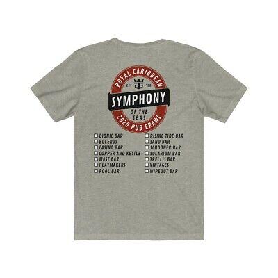 Royal Caribbean Symphony of the Seas Pub Crawl 2020 Custom Cruise Shirt