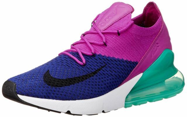 bb012ca22 Nike Air Max 270 Flyknit Mens Ao1023-401 Royal Fuchsia Running Shoes ...