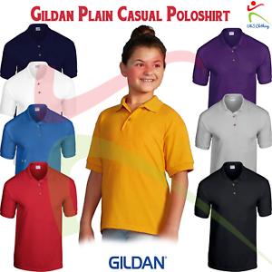 Gildan-DryBlend-Kids-Jersey-Poloshirt-Short-Sleeve-Soft-Cotton-Plain-Casual-TOP