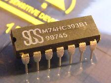 10x M74HC393B1 Dual 4-Bit Binary Counter, SGS