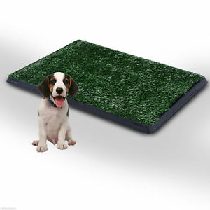 Dog Toilet Pet Puppy Mat Tray Training Patio Poop Trainer Grass Indoor