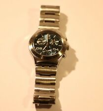SWATCH IRONY CHRONOGRAPH ALL STAINLESS STEEL WATCH AG 2002 4 JEWELS V8