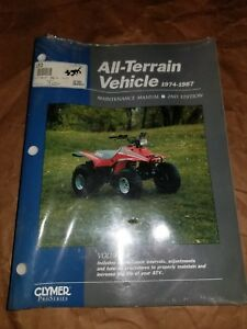 Clymer-Service-Repair-Manual-ATV-Volume-1-2nd-Edition-74-87-Honda-Suzuki-Polaris