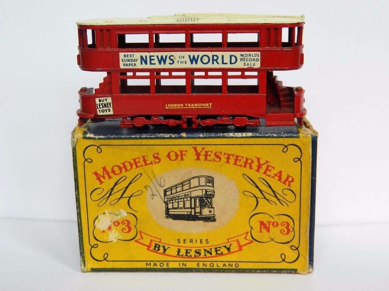 LESNEY MATCHBOX BOXED YESTERYEAR Y3-1 1907 E CLASS TRAMCAR 1956-65