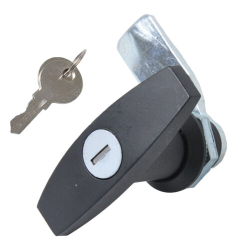 Schwarzer Safe-Garagentoröffner T-Griffschloss mit 2 Schlüsseln für