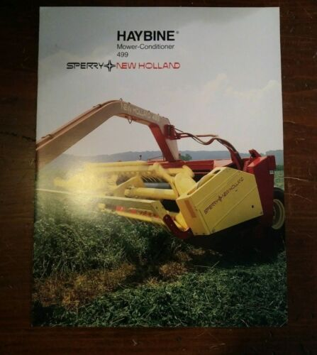New Holland 499 Haybine Mower Conditioner Brochure