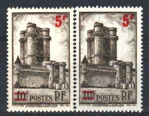 FRANCE-STAMP-TIMBRE-491-034-VINCENNES-5F-S-10F-VARIETE-COULEUR-034-NEUFS-xx-LUXE-R331