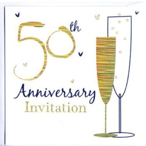 Plata//Oro Metalizado Boda Fiesta Aniversario Invitaciones y Sobres