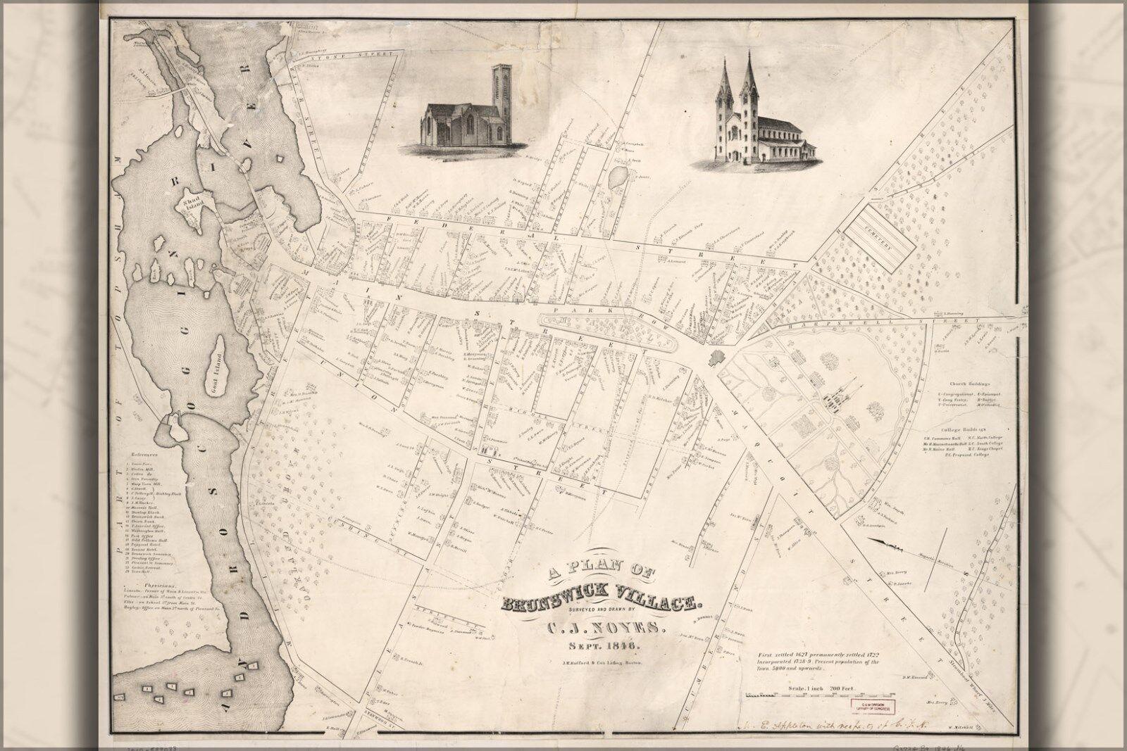 Plakat, Viele Größen; Karte von Brussels 1612