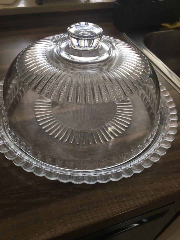 Glas, Glas kagefad med glaslåg