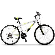 "26"" Mountain Bike 18 Speed Bicycle Shimano Hybrid College School Sports White"
