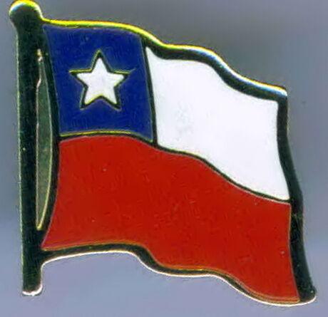 República de Chile Flag Lapel Hat Pin NEW