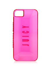 Juicy Couture Gemstone Hard iPhone 5 5s Case Neon Clear Pink 3D Gemstones design