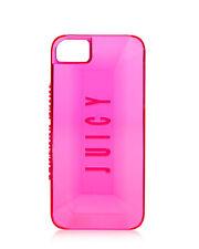 Juicy Couture Gemstone Hard iPhone 5 5s Case Neon Clear Pink 3D Gemstones design