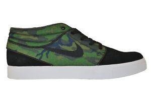 finest selection c6c6d 20b44 Image is loading Nike-ZOOM-STEFAN-JANOSKI-MID-Black-Iguana-Skate-