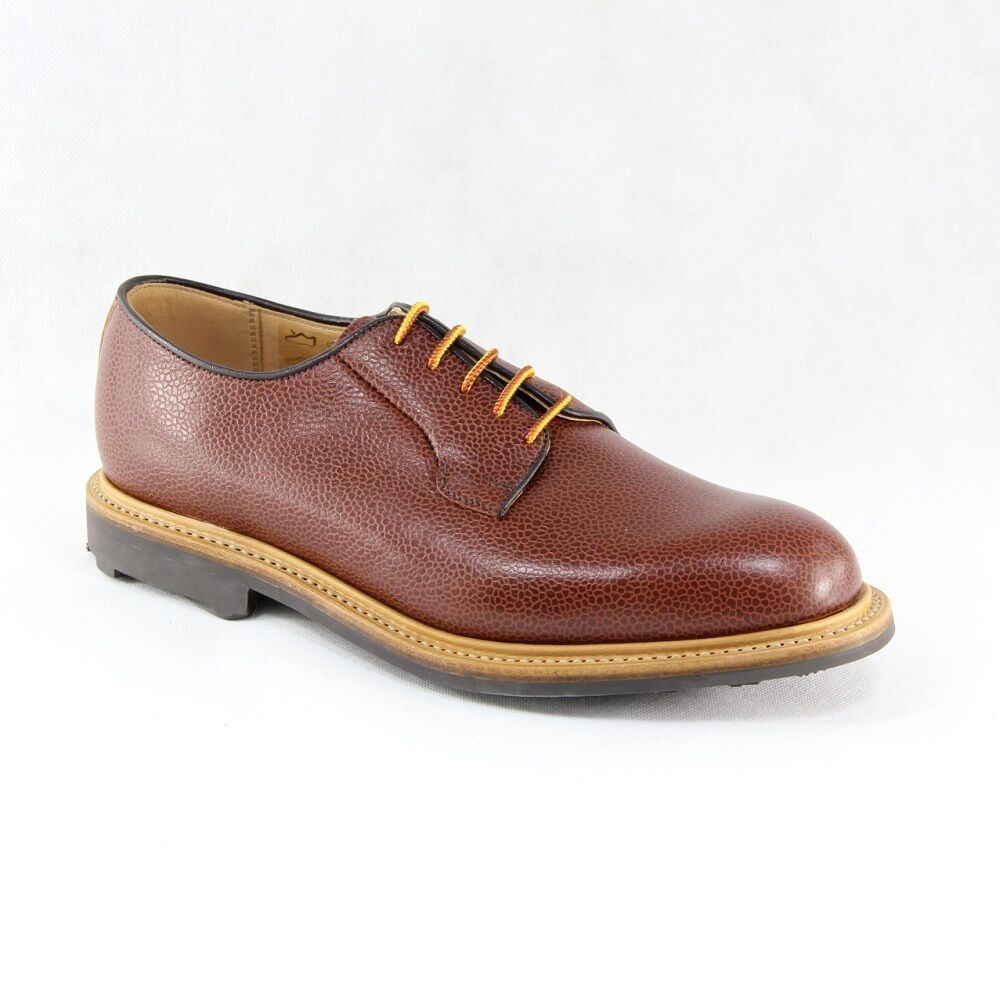 MARK MCNAIRY MADE IN ENGLAND TAN GRAIN WHOLECUT DERBY SHOE SIZE US 8.5