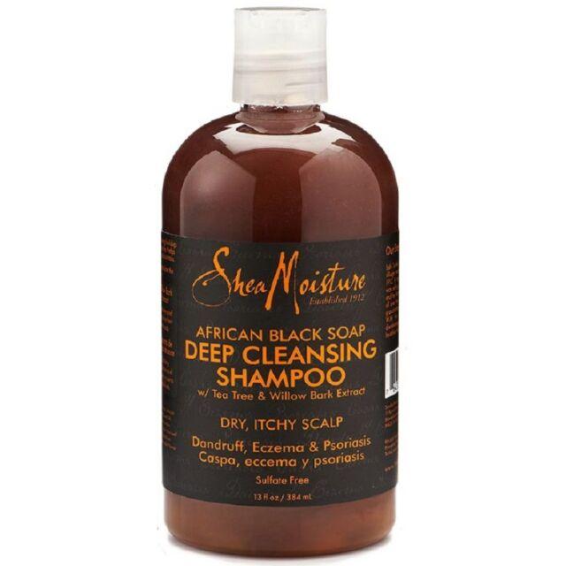 Shea Moisture African Black Soap Deep Cleansing Shampoo 13 oz