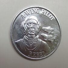 "A-Wing Pilot - Star Wars Kenner POTF 1984 1.5"" dia. Aluminum Coin Mail-Away"