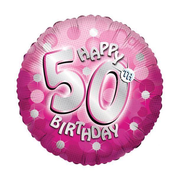 Rose Brillant Happy 50e Anniversaire 18 Ballon Fête Décorations