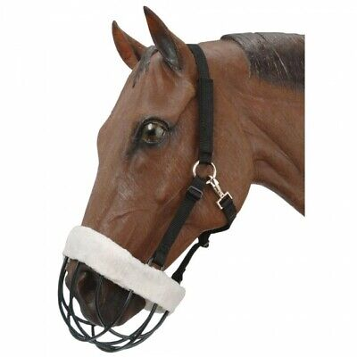 Brand Adjustable Mini Pony Black Nylon Grazing Muzzle Horse Tack D.A