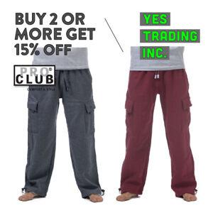 PROCLUB-Pro-Club-para-hombre-Peso-Pesado-Cargo-Pantalones-de-chandal-pesado-grande-y-alto