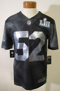 NWT Nike Super Bowl LII Mens Generic Limited Football Jersey S Black ... afa0ed3b2
