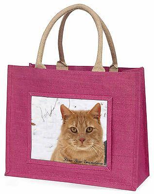 Rote Katze 'Liebe dich Oma' Große Rosa Einkaufstasche Weihnachten Pr,