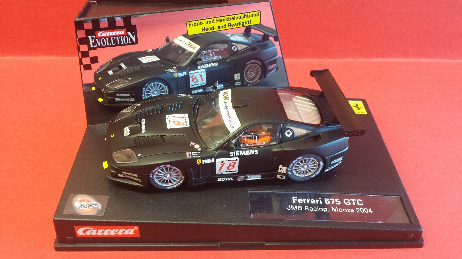 CARRERA EVO 25752 FERRARI 575 GTC JMB RACING 2004 1 32 SCALEXTRIC COMPATABLE..