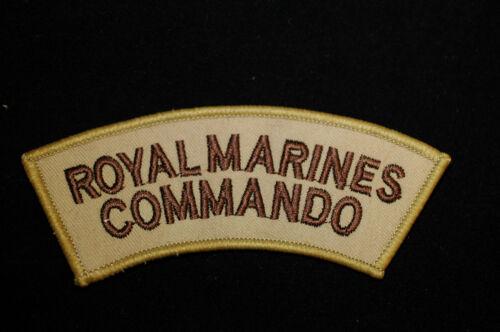 No161a Desert Shoulder Sew On Patch Royal Marines Commando