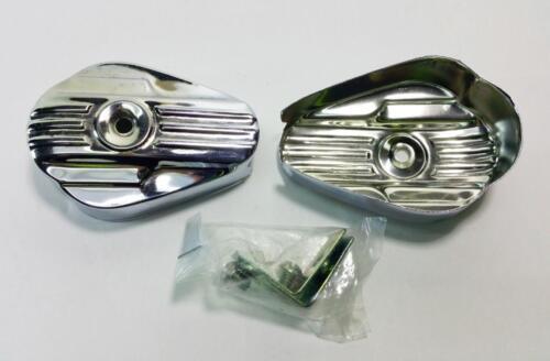 4 pair cottered crankset dust cap kit chrome vintage New Old Stock classic
