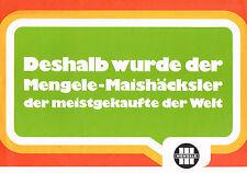 Mengele - Maishäcksler, orig. Poster- Prospekt 1973