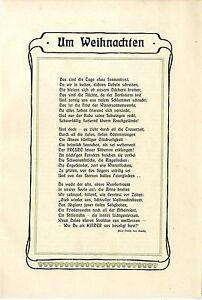 Details Zu Alice Freiin Von Gaudy Gedicht Um Weihnachten Berlingnadenfrei Schmuckblatt1902