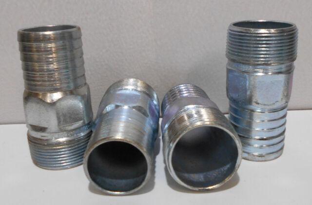 1 in. Diameter, 4 in. Long - 10-Pack Stainless Steel 304 Nipple Schedule 40 NPT Male
