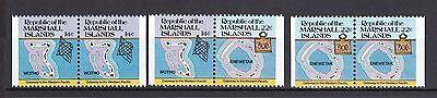 Marshall Insel 1985 Postfrisch Minr. 40d+41d 6 Werte Freimarken: Inselkarten