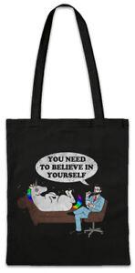 Psycho-Unicorn-Stofftasche-Einkaufstasche-Einhorn-Psychologe-Psychologie-Fun
