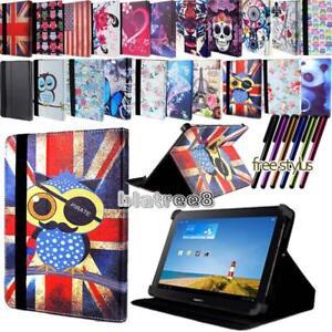 Per-vari-10-034-Huawei-MediaPad-Tablet-PELLE-SMART-STAND-COVER-Stylus
