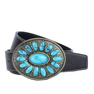 check-out 9fd00 7ca83 Dettagli su Cintura western da cowboy Cintura da uomo in pelle di vitello  per accessori