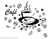 Sticker Cuisine Tasse Café Et Grains, Tailles Et Coloris Divers (cuisine051)