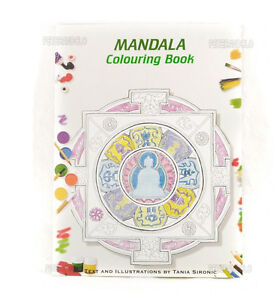 Livre De Coloriage Mandala Colouring Book Bouddhiste Ebay