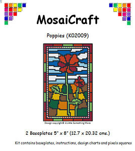 MosaiCraft-Pixel-Craft-Mosaic-Art-Kit-039-Poppies-039-Pixelhobby