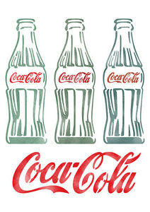 letter stencils airbrush painting decorative wall art home deco vintage cocacola ebay. Black Bedroom Furniture Sets. Home Design Ideas