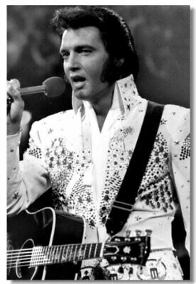 Poster Elvis Presley Pop Singer Star Room Club Art Wall Cloth Print 505