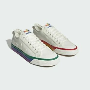 Details about Adidas Originals Nizza Pride Rainbow LGBTQ Vulcanized Limited  Off White EF2319