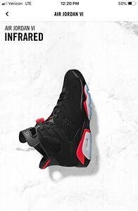 ac333a1de67d NEW DS 2019 Nike AIR JORDAN 6 VI RETRO OG Black INFRARED 384664 060 ...