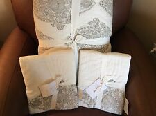 POTTERY BARN MYA Block Print FULL/QUEEN Quilt & 2 Standard Shams NEW