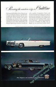 1965 Cadillac De Ville Convertible Automobile Dealership Promotional Note Card