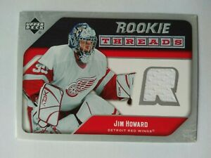 2005-06-Upper-Deck-Rookie-Threads-Jim-Howard-Detroit-Red-Wings-Jersey-WHITE