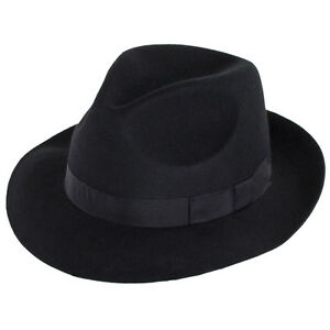 Denton-Hats-GOODWOOD-Cappello-di-feltro-Nero