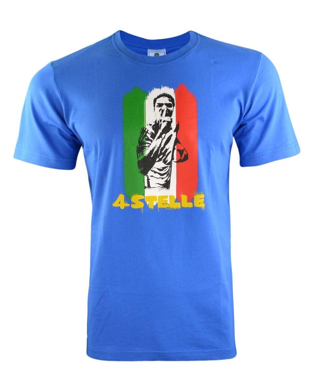f888ba25a0 Adidas deportes 2014 mundial Copa Italia azul para hombre Camiseta Tee de  manga corta