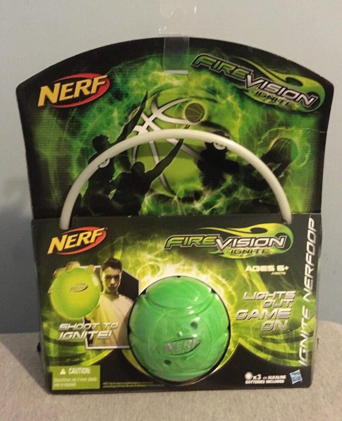 Nerf Fire Vision Ignite Ignite Ignite Nerf Mini Basketball & Hoop Set Kids Toy Game, Green New 070f90